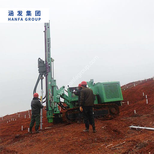 HF385Y Photovoltaic Solar Pile Drilling Rig