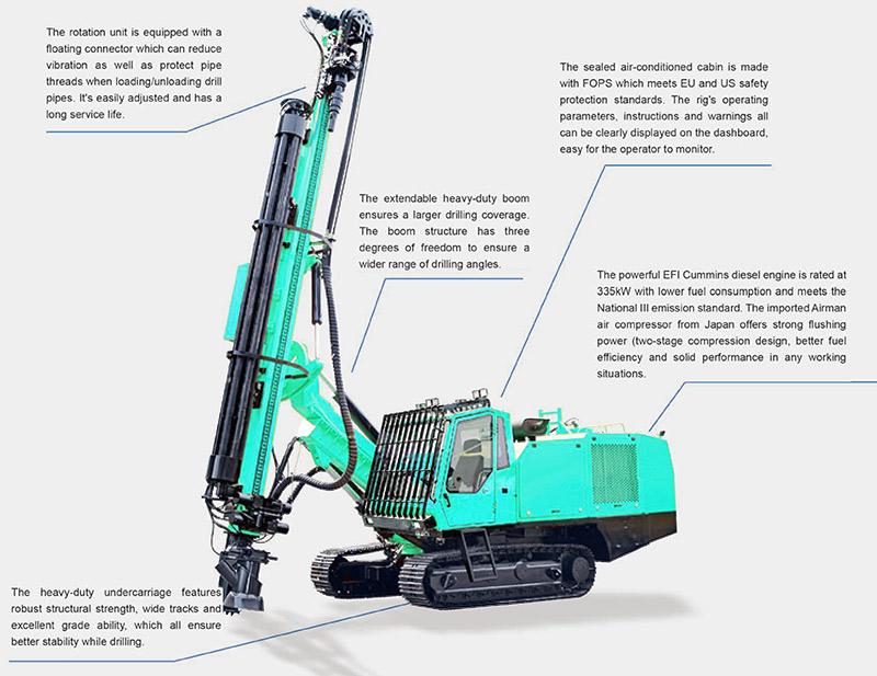 HF038 hydraulic DTH drilling rig