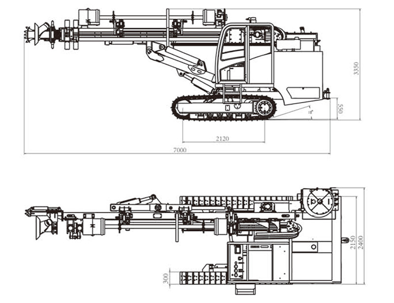 HF037 Automatic Crawler Mounted DTH Drill Rig