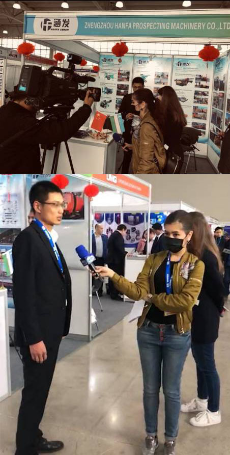 At the end of march, hanfa group attended the Uzbekistan international mining exhibition