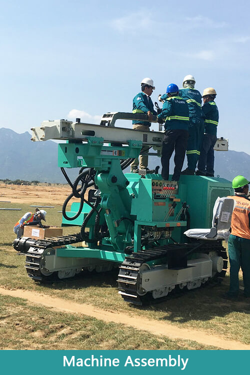 Photovoltaic Pile Driver in Vietnam