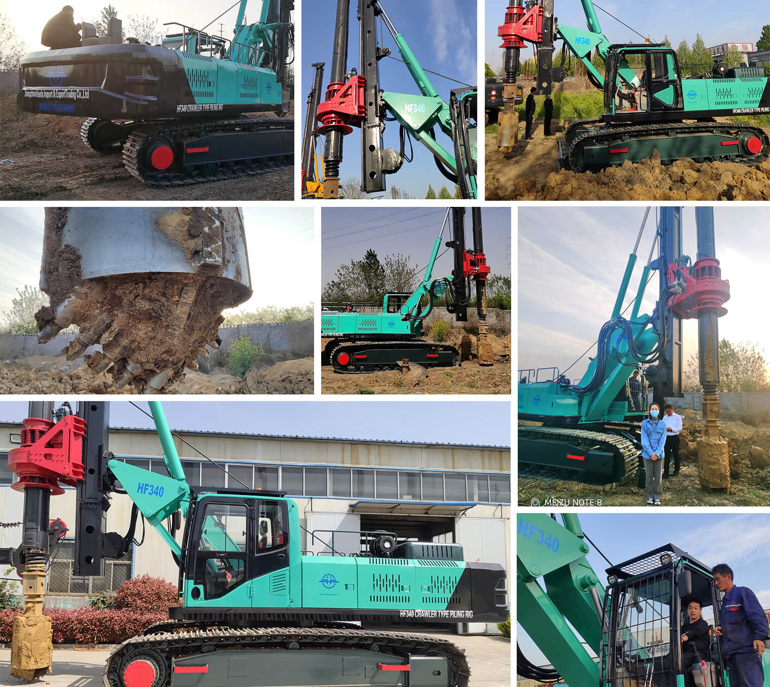 HF340 rotary piling rig